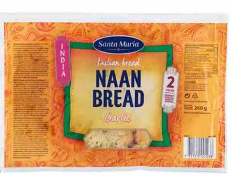 Bilde av Santa Maria Naan Bread garlic.