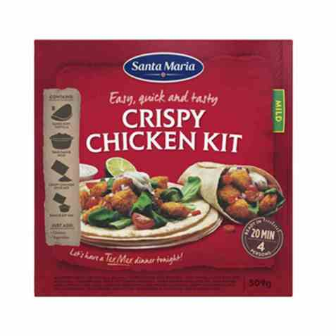 Bilde av Santa Maria Crispy Chicken Dinner Kit.