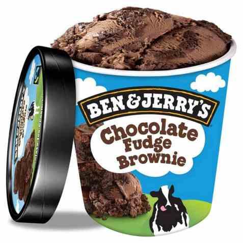 Bilde av Ben and Jerry Chocolate Fudge Brownie.