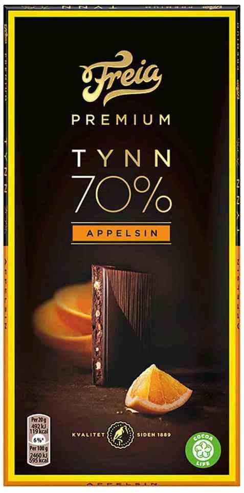 Bilde av Freia Premium 70 prosent Appelsin.