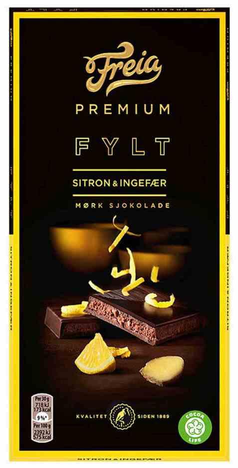 Bilde av Freia Premium Sitron & Ingefær.