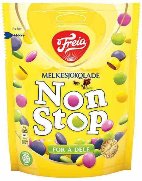 Bilde av Freia Non Stop Melkesjokolade.