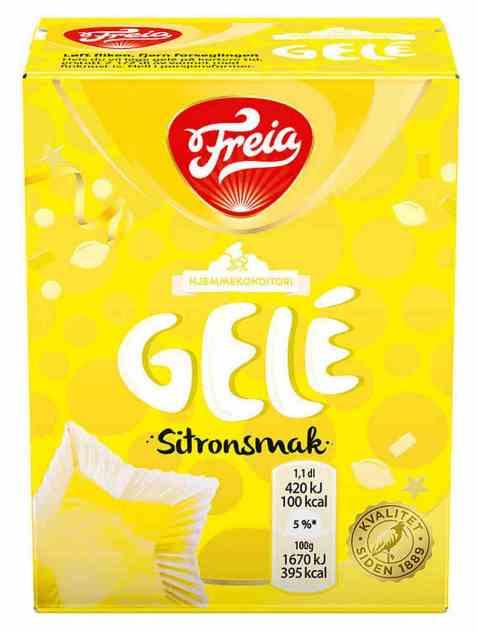 Bilde av Freia gele med sitronsmak.