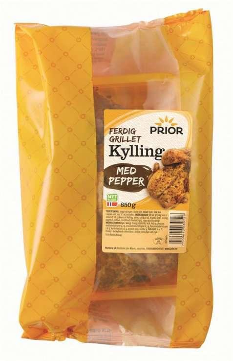 Bilde av Prior stor kylling med pepper grillet.