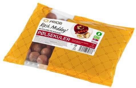 Bilde av Prior pølsekuler kylling og kalkun.