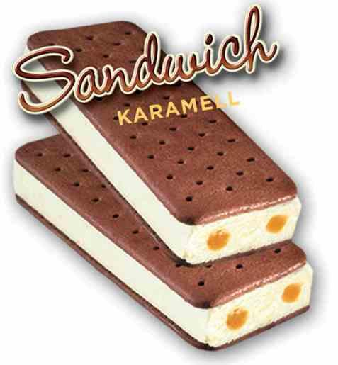 Bilde av Isbilen sandwich karamell.