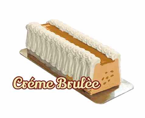 Bilde av Isbilen dessertiskake med vanilje og creme brulee.