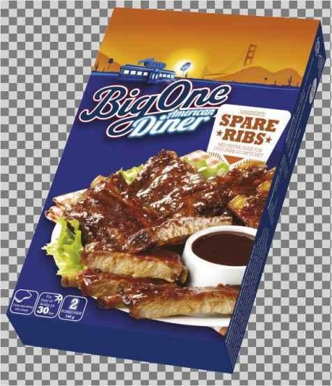 Bilde av Big One American diner Spareribs.