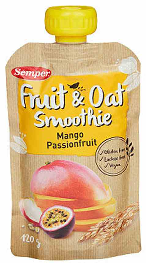 Bilde av Semper Smoothie mango og pasjonsfrukt.