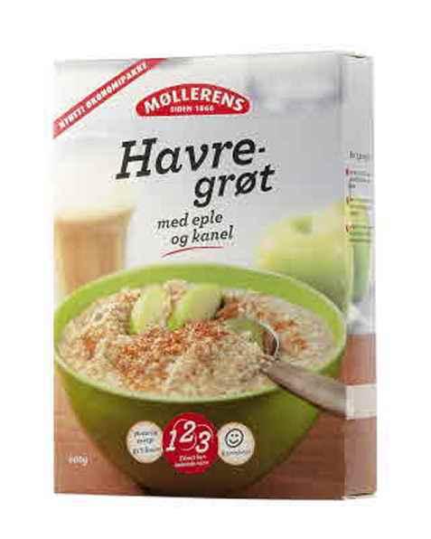 Bilde av Møllerens Havregrøt eple og kanel.
