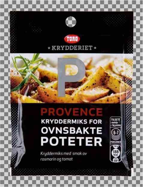 Bilde av Toro krydderiet potetkrydder provence tilberedt.