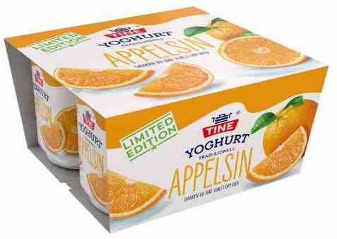 Bilde av TINE Yoghurt vårfrisk appelsin.