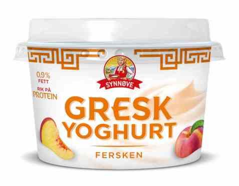 Bilde av Synnøve gresk yoghurt fersken.
