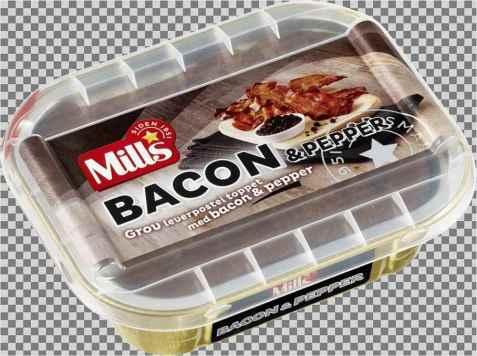 Bilde av Mills ovnsbakt bacon og pepperpostei.