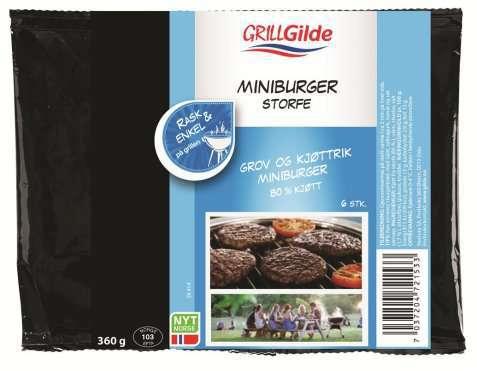 Bilde av Gilde Miniburger med bacon og svin.