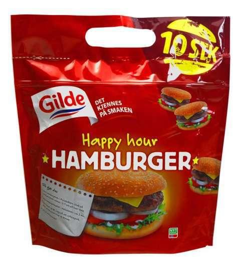 Bilde av Gilde Happy Hour burger.