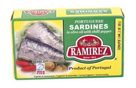 Bilde av Ramirez sardiner i olivenolje chili.