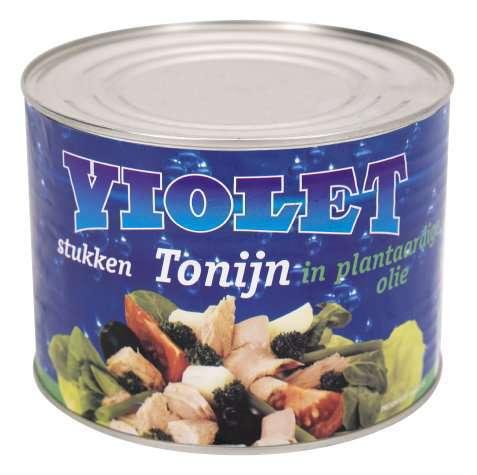 Bilde av Violet tunfiskbiter i olje.