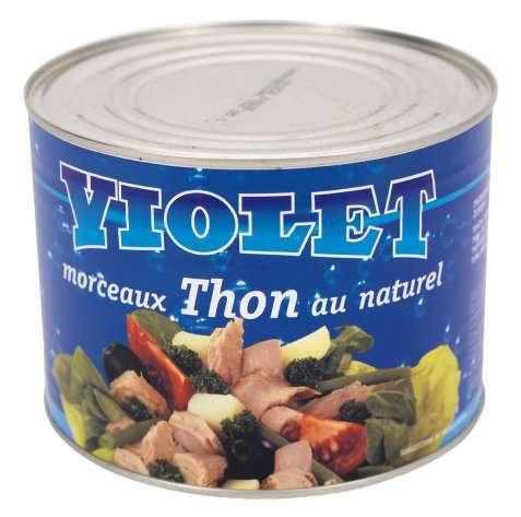 Bilde av Violet tunfiskbiter i vann.