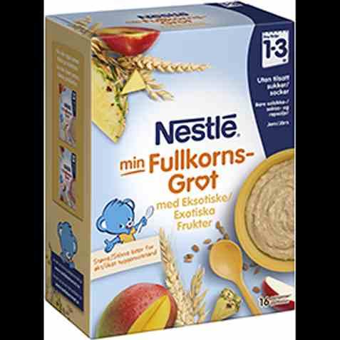Bilde av Nestle Fullkornsgrøt med eksotiske frukter og müsli, fra 12 mnd, pulver.