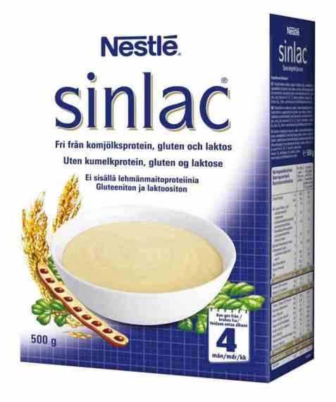Bilde av Sinlac spesialgrøt, pulver, Nestlé.