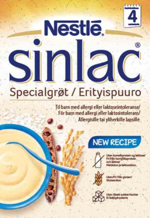 Bilde av Sinlac spesialgrøt, spiseklar, Nestlé.