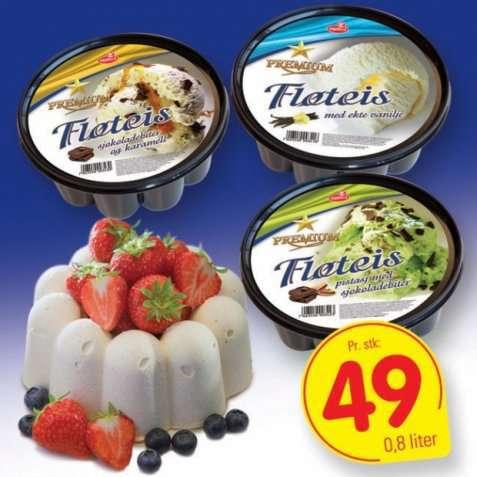 Bilde av Isbilen premium fløteis sjokoladebiter og karamellsaus.
