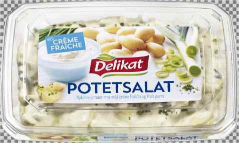 Bilde av Delikat potetsalat creme fraiche med purre.