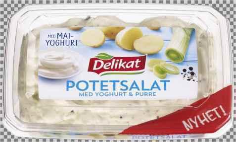 Bilde av Delikat potetsalat med yoghurt og purre.
