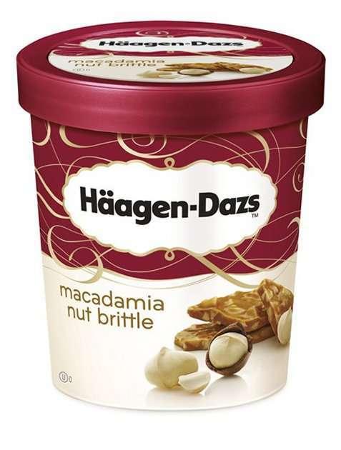 Bilde av Haagen-Dazs Macadamia Nut Brittle 500ml.