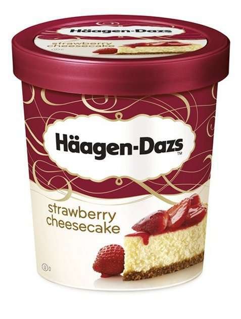Bilde av Haagen-Dazs Strawberry Cheesecake 500ml.