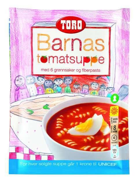 Bilde av Toro barnas tomatsuppe ferdiglagd.