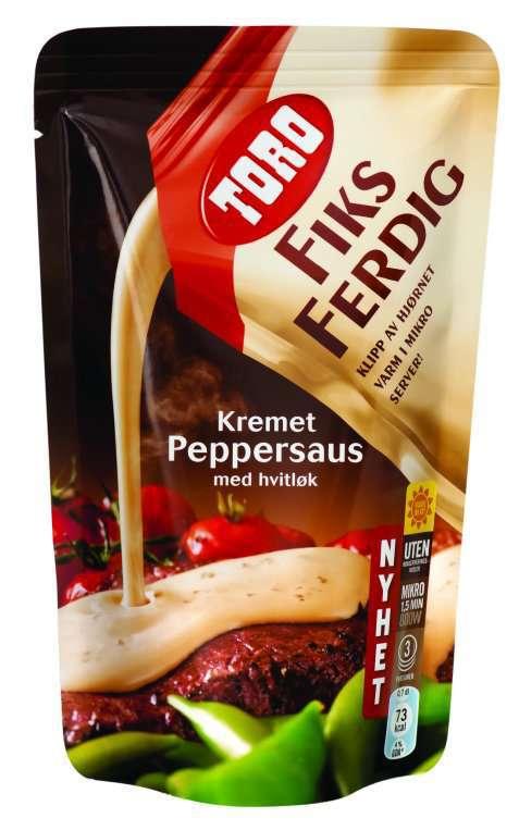Bilde av Toro fiks ferdig kremet peppersaus.