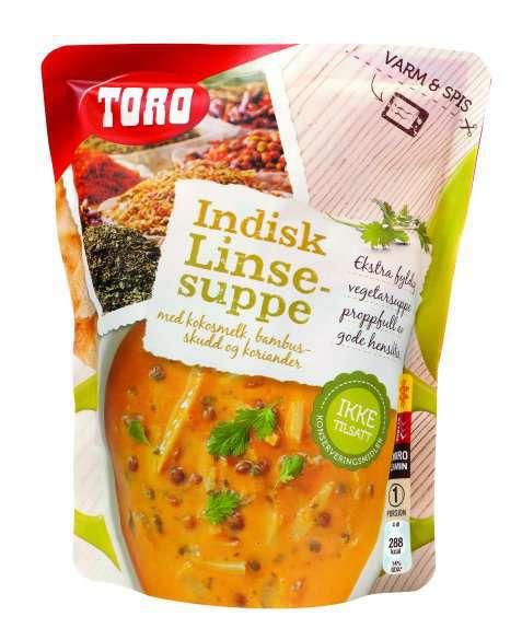 Bilde av Toro indisk linsesuppe.