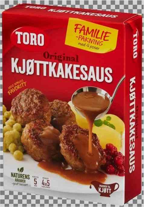 Bilde av Toro kjøttkakesaus økonomipakke tilberedt.
