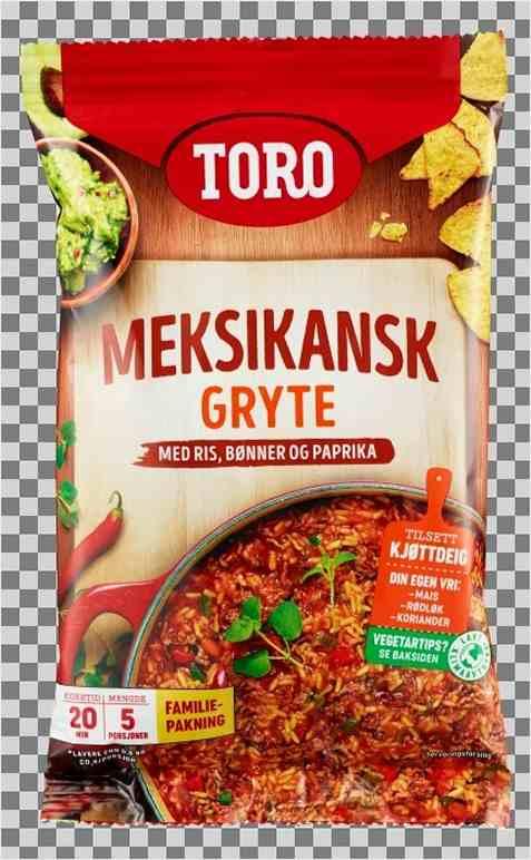 Bilde av Toro meksikansk gryte med ris familiepakning.