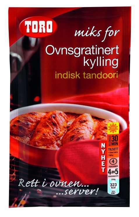 Bilde av Toro Miks for – Ovnsgratinert kylling indisk tandoori.
