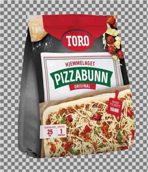 Bilde av Toro pizzabunn familiepakning.