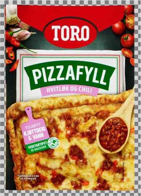 Bilde av Toro pizzafyll med hvitløk og søt chili.