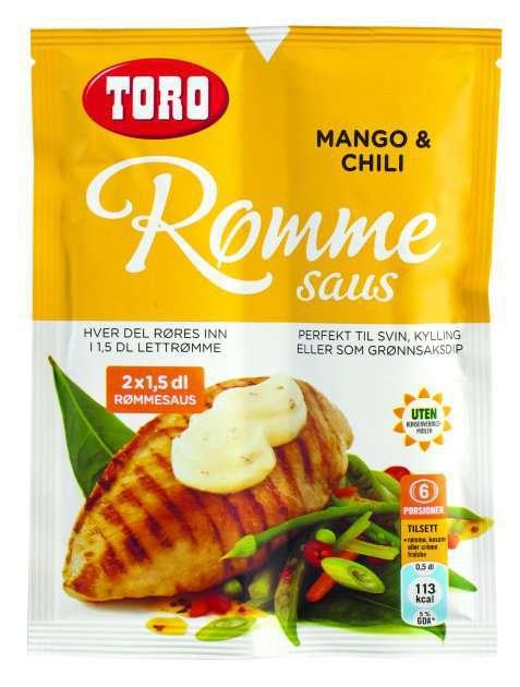 Bilde av TORO Rømmesaus med mango og chili.