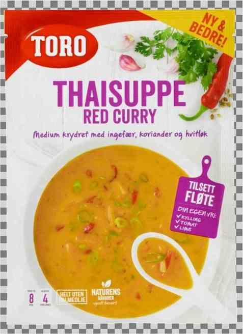 Bilde av Toro Thai red currysuppe.
