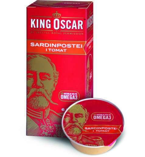 Bilde av King Oscar sardinpostei i tomat.