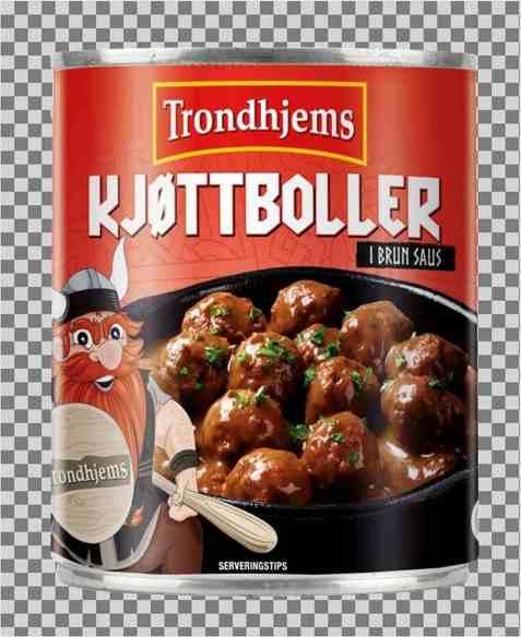 Bilde av Trondhjems Kjøttkaker i brun saus.