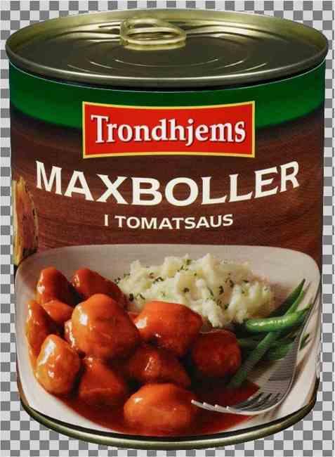 Bilde av Trondhjems maxboller i tomatsaus.