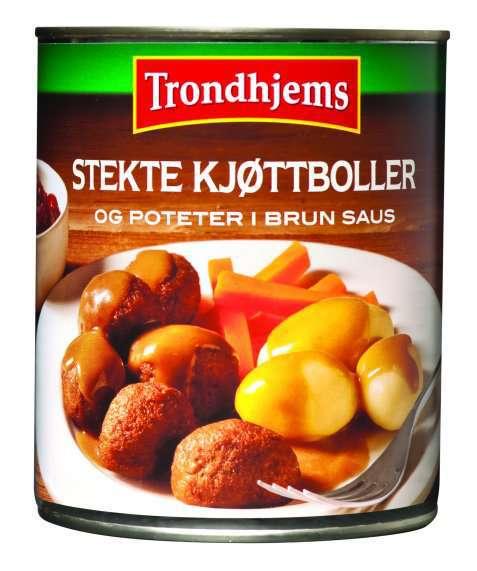 Bilde av Trondhjems Stekte kjøttboller og poteter i brun saus.