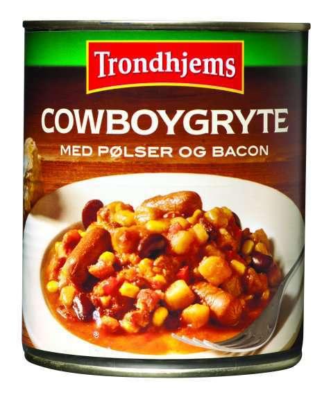 Bilde av Trondhjems Cowboygryte med pølser og bacon.