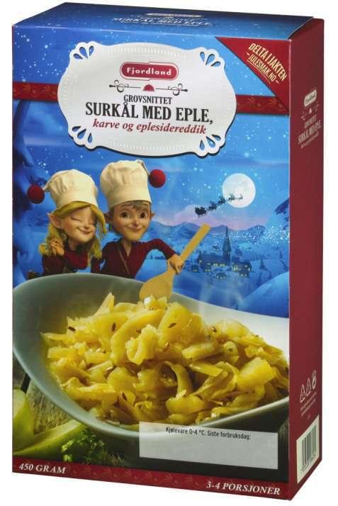 Bilde av Fjordland surkål familiepakning.