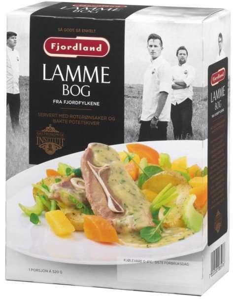 Bilde av Fjordland Lammebog med rotgrønnsaker og bakte potetskiver.
