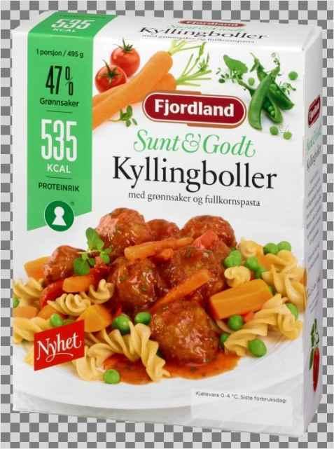 Bilde av Fjordland Kyllingkjøttboller i tomatsaus.