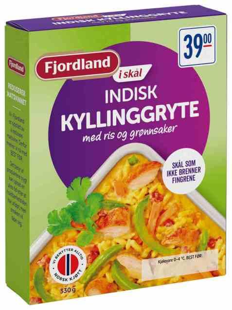 Bilde av Fjordland Indisk kyllinggryte.